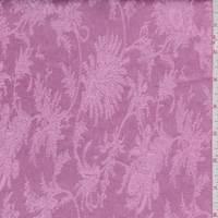 Deep Pink Fringe Floral Satin Jacquard