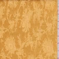 Deep Gold Fringe Floral Satin Jacquard