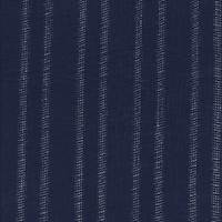 Dark Blue Leno Stripe Cotton Lawn