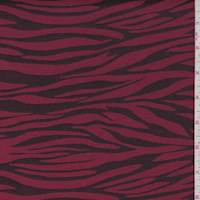Cherry/Black Zebra Stripe Twill Jacquard