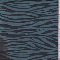 Ice/Black Zebra Stripe Twill Jacquard