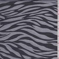 Silver Zebra Stripe Satin Jacquard