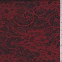 Ruby/Black Floral Satin Jacquard