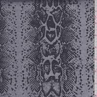 Silver/Slate Snakeskin Satin Jacquard