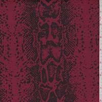 Cherry/Black Snakeskin Twill Jacquard