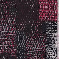Mulberry/Grey Snakeskin Patchwork Sweater Knit