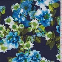Violet/Blue Floral Cluster Liverpool Knit
