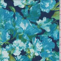 Royal/Turquoise Floral Liverpool Knit