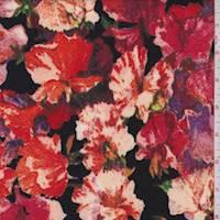 Black Multi Floral Liverpool Knit