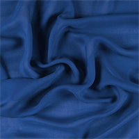 *3 YD PC--Dark Blue Silk Double Georgette