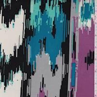 *2 3/8 YD PC--Orchid Purple Southwest ITY Jersey Knit