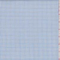 *3 3/8 YD PC--White/Royal Check Cotton Shirting