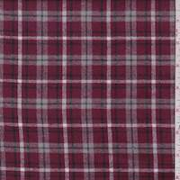 *3 YD PC--Raspberry Plaid Flannel