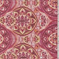 *2 YD PC--Pale Red/Blush Medallion Textured Jersey Knit