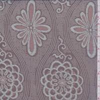 *1 PANEL--Mahogany/Pearl Blue Floral Medallion Silk Chiffon
