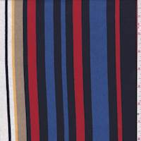 *2 1/2 YD PC--Navy/Red Multi Stripe Jersey Knit