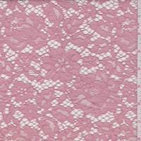 *3/4 YD PC--Rose Pink Floral Lace
