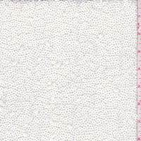 *3 3/4 YD PC--Pearl White Sequined Jersey Knit
