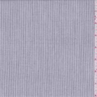 *1 3/4 YD PC--Ash Black Stripe Cotton Shirting