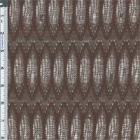 *3 YD PC--Mocha Brown Lady Finger Motif Crochet Knit