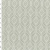 *2 YD PC--Gray/White Ogee Dot Double Jacquard Home Decorating Fabric