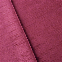 *7/8 YD PC--Red Magenta Empress Chenille Strie Velvet  Decorating Fabric