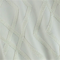 *7 1/2 YD PC--Cream White Geometric Trellis Boucle Embroidered Canvas