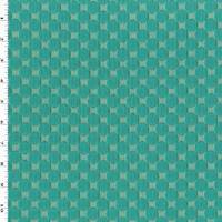 *5 YD PC--Deep Teal Dot Cloque Home Decorating Fabric