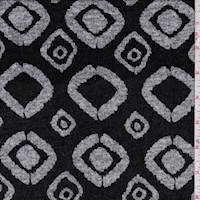 *2 1/2 YD PC--Black/Grey Modern Diamond Sweater Knit
