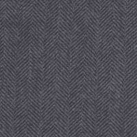 *2 1/2 YD PC--Blueish Grey Herringbone Striped Wool Gauze