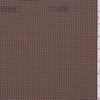 *1 1/8 YD PC--Mocha/Tan Mini Houndstooth Scuba Knit