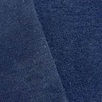 *1 YD PC--Midnight Blue Wool Blend Texture Back Sweater Knit