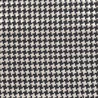 * 4 YD PC--Black/Cream Houndstooth Wool Suiting
