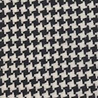 *3 3/4 YD PC--Black/Ivory Houndstooth Wool Suiting