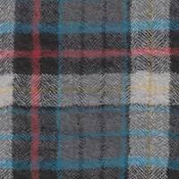 *2 1/2 YD PC--Grey/Black Plaid Wool
