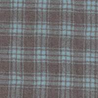 *3 3/4 YD PC--Brown/Aqua Plaid Wool Gauze