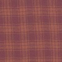 *2 3/4 YD PC--Deep Red/Orange Plaid Wool Gauze