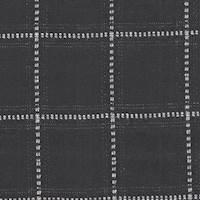 *3 3/4 YD PC--Black Windowpane Wool Suiting