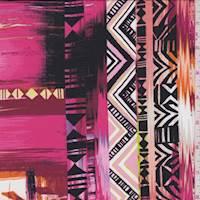 *3 1/4 YD PC--Hot Pink Southwest Crepe de Chine