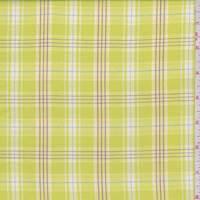 *3 5/8 YD PC--Bright Yellow Plaid Cotton Shirting
