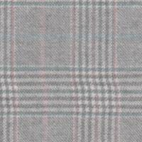 *2 1/4 YD PC--Soft Grey/Ivory Plaid Wool Suiting