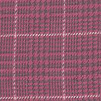 *5 1/4 YD PC--Raspberry Pink/Chocolate Plaid Wool Blend Suiting