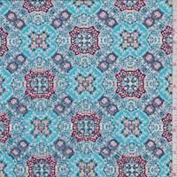 Turquoise/Wine Moroccan Activewear/Swimwear
