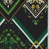 Black/Lime Geo Floral Activewear Knit