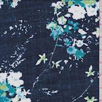 Navy Floral Bouquet Activewear Knit