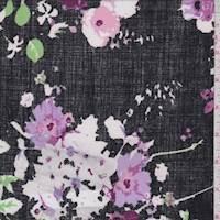 Black Floral Bouquet Activewear Knit