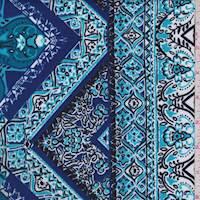 Aqua/Blue/Navy Baroque Activewear Knit
