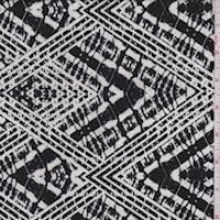 Black/White Tie Dye Diamond Activewear Knit