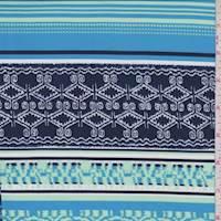 Navy/Sky/Jade Deco Patchwork Activewear/Swimwear