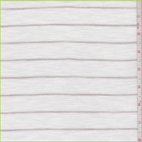 *2 1/2 YD PC--White/Taupe Zig Zag Stripe T-Shirt Knit